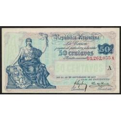 B1521 50 Pesos Caja de Conversion A 1918