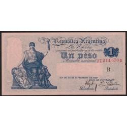 B1542 1 Peso Caja de Conversion B 1915 UNC