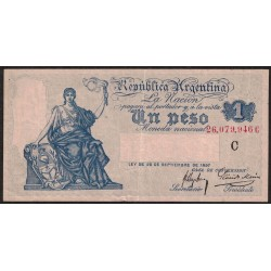 B1551 1 Peso Caja de Conversion C 1922