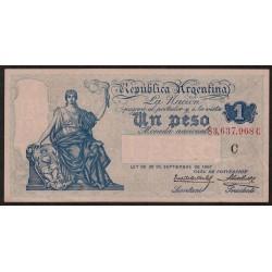 B1555 1 Peso Caja de Conversion C 1925