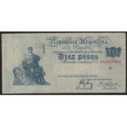 B1613 10 Pesos Caja de Conversion A 1916