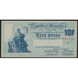 B1624 10 Pesos Caja de Conversion A 1925