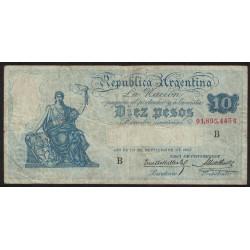B1626 10 Pesos Caja de Conversion B 1926