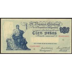 B1895 100 Pesos Progreso Ley 12.155 C 1937