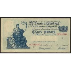 B1898 100 Pesos Progreso Ley 12.155 C 1943