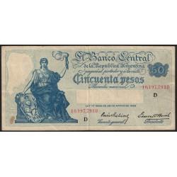B1892 50 Pesos Progreso Ley 12.155 D 1941
