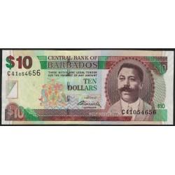 Barbados P68 10 Dolares 2007 UNC
