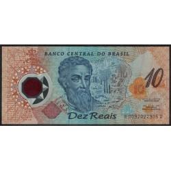 Brasil P248a 10 Reais 2000 UNC
