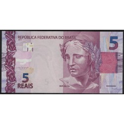 Brasil P253a 5 Reales 2010 UNC