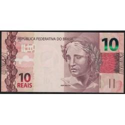 Brasil P254 10 Reales 2010 UNC