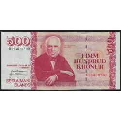 Islandia P58b 500 Kronur 2001 UNC
