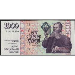 Islandia P59 1000 Kronur 2001 UNC