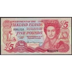 Islas Malvinas P17a 5 Pounds 2005 UNC