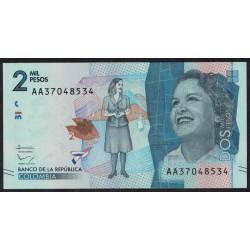 Colombia 2000 Pesos 2015 UNC