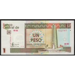 Cuba Pick FX46 1 Peso 2006 UNC