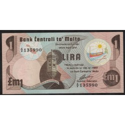 Malta P34 1 Lira 1967 UNC