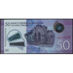 Nicaragua 50 Cordobas 2014 Polimero UNC