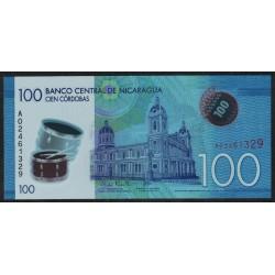 Nicaragua 100 Cordobas 2014 Polimero UNC