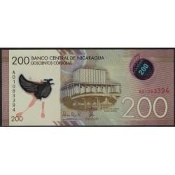 Nicaragua 200 Cordobas 2014 Polimero UNC