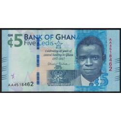 Ghana 5 Cedis 2017 UNC