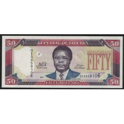 Liberia 5 Dolares 2011 UNC