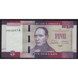 Liberia 5 Dolares 2016 UNC