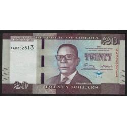 Liberia 20 Dolares 2016 UNC