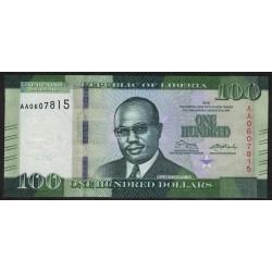 Liberia 100 Dolares 2016 UNC