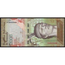 Venezuela 2000 Bolivares 2016 UNC