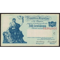 B1801 50 Centavos Progreso Ley 12.155 C 1942