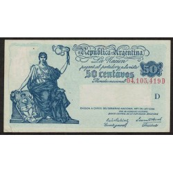 B1802 50 Centavos Progreso Ley 12.155 D 1943
