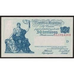 B1803 50 Centavos Progreso Ley 12.155 D 1944 UNC