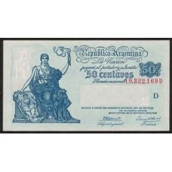 B1804 50 Centavos Progreso Ley 12.155 D 1945 UNC