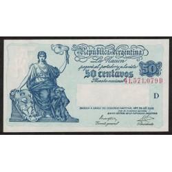 B1806 50 Centavos Progreso Ley 12.155 D 1947