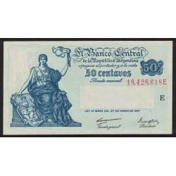 B1809 50 Centavos Progreso Ley 12.155 E 1948 UNC
