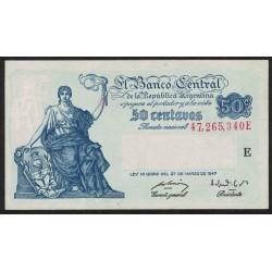 B1811 50 Centavos Progreso Ley 12.962 E 1949