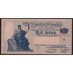 B1820 1 Peso Progreso Ley 12.155 I 1940 UNC