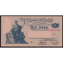 B1825a 1 Peso Progreso Ley 12.155 I 1944