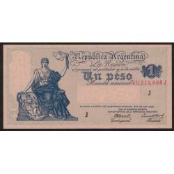 B1827a 1 Peso Progreso Ley 12.155 J 1945 UNC
