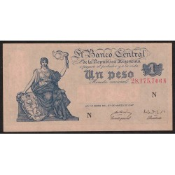 B1841 1 Peso Progreso Ley 12.962 N 1951 UNC