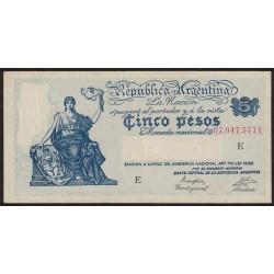 B1856 5 Pesos Progreso Ley 12.155 E 1947