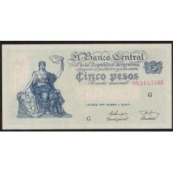 B1868 5 Pesos Progreso Leyes 12.962 y 13.571 G 1955