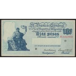 B1880 10 Pesos Progreso Ley 12.155 D 1938