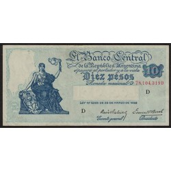 B1883 10 Pesos Progreso Ley 12.155 D 1941