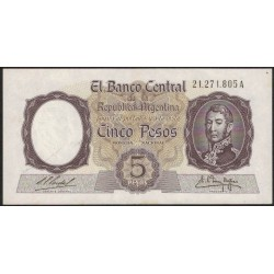 B1921 5 Pesos A 1960