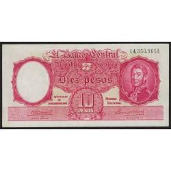 B1929 10 Pesos Ley 12.155 A 1944 Firmas en Rojo UNC