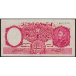 B1930a 10 Pesos Ley 12.155 A 1945 Firmas en Rojo