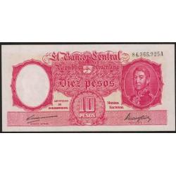 B1937 10 Pesos Ley 12.155 A 1949 UNC
