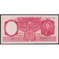 B1939 10 Pesos Ley 12.155 A 1950