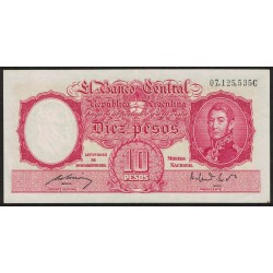 B1942 10 Pesos Ley 12.155 C 1951